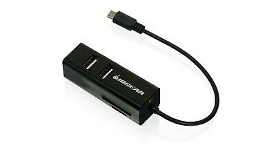 Iogear GoFor2- -USB OTG Card Reader with Hub for Mobile Devices