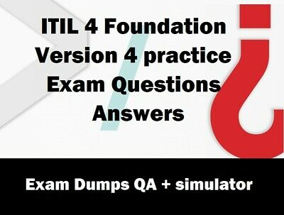 ITIL 4 Foundation Version 4 practice Exam Questions Answers
