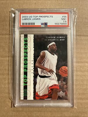 2003 LEBRON JAMES UD TOP PROSPECTS 55 PSA 7-5 ROOKIE RC LAKERS