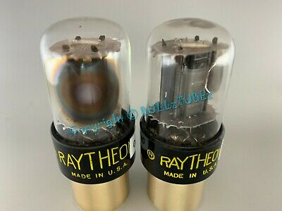 RAYTHEON 6SN7GTB BLACK PLATES SIDE D GETTER TUBES PLATINUM MATCHED on AT1000