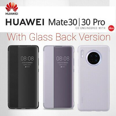 Genuine Huawei Mate 30 / Pro Smart View Flip Cover Case With Glass Back Version