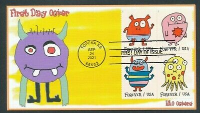 Message Monsters - 2021 FDC - SC 5636 - 5639