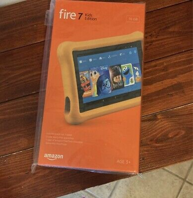 NEW Fire 7 Kids Edition Tablet, 7 Display, 16 GB, Yellow Kid-Proof Case