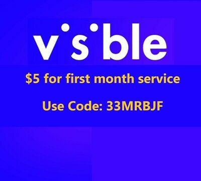 Visible Mobile Cell Phone 5 for a month Referral Code 33MRBJF
