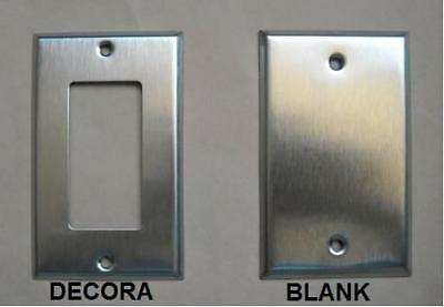 DECORA  BLANK STAINLESS STEEL COVER PLATE 1 2 3 4 GANG