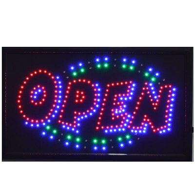 LARGE Animated LED Neon BUSINESS OPEN Sign w-Motion ONOFF Switch 21 X13  013