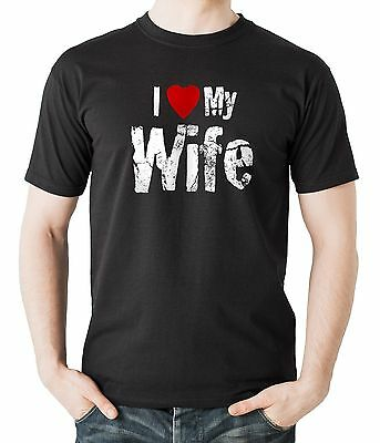 I Love My Wife T-Shirt Gift For Husband T Shirt Shirt Tee Fathers Day Gift
