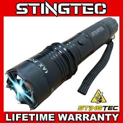 13-5 Metal MILITARY Stun Gun 350 Million Volt Rechargeable - LED Flashlight NEW