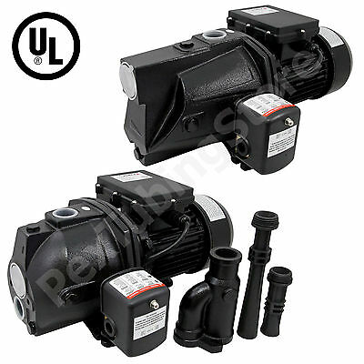 Deep Well or Shallow Well Water Jet Pump- Various HP Ratings Available