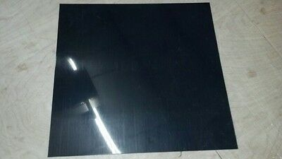 BLACK POLYETHYLENE HDPE PLASTIC SHEETS 18 - VACUUM FORMING YOU PICK SIZE