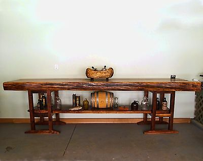 Live edge walnut slab bar or kitchen island