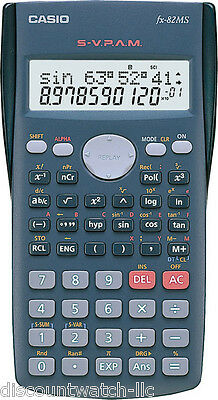 Casio FX-82MS Scientific Calculator 240 Functions Statistics 2-Line Display NEW