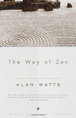 The Way of Zen by Alan W- Watts Paperback Vintage  New Free Shipping