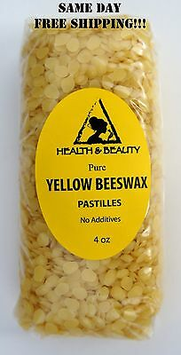 YELLOW BEESWAX BEES WAX by H-B Oils Center ORGANIC PASTILLES BEADS PURE 4 OZ