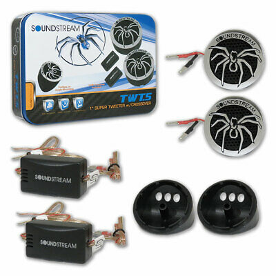 NEW Soundstream Car Audio 1 Dome Tweeters W Capicitor 220 Watts Pair