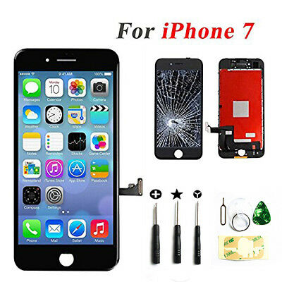 iPhone 7 4-7 Black LCD Display Touch Screen Digitizer Assembly Replacement US