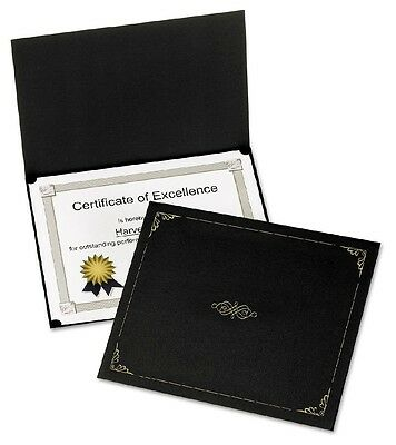 Oxford Certificate Holder 12 12 x 9 34 Black 5 Pack - Brand New Item