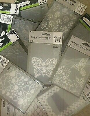 Darice Embossing Folders 4-25 x 5-75 VARIOUS DESIGNS 3-75 EACH Set 1