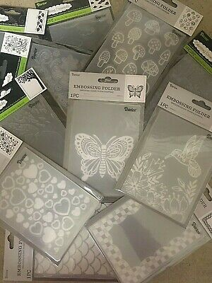 Darice Embossing Folders 4-25 x 5-75 VARIOUS DESIGNS 3-75 EACH Set 2