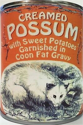 Creamed Possum in Coon Fat Gravy Garnished with Sweet Potatoes of Course