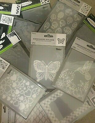 Darice Embossing Folders 4-25 x 5-75 VARIOUS DESIGNS 3-75 EACH Set 3