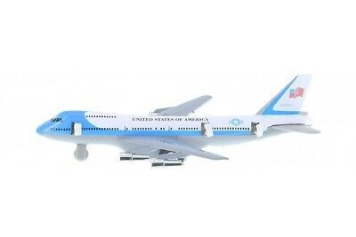 New 8 Diecast Toy passenger airplane jet 747 look alike plane Pull Back action