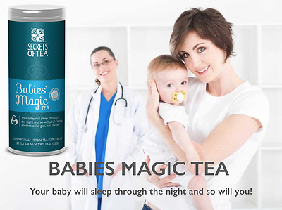 Baby colic - gas Babies Magic Tea your baby will sleep through the night M-US