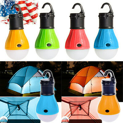 Emergency Lamp Tent Light Lantern LED Portable w Hook Outdoor Camping Hiking US
