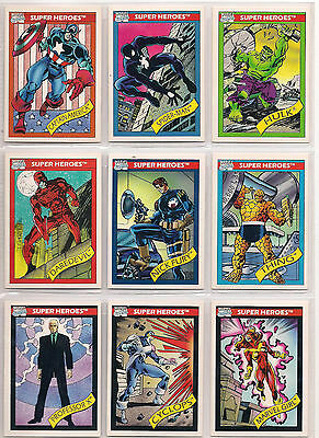 1990 MARVEL UNIVERSE SERIES 1 COMPLETE 162 CARD SET NM FREE SHIPPING