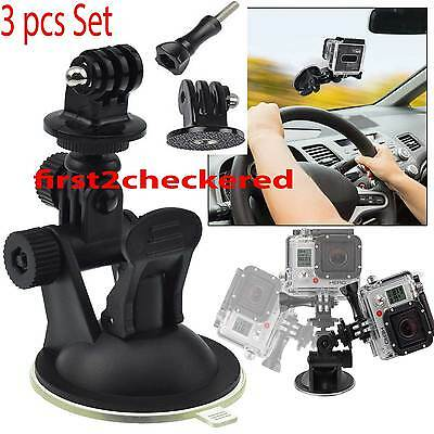 Car Window Windshield Glass SUCTION Cup Mount for GoPro Hero 4 3 2 1 Camera NEW