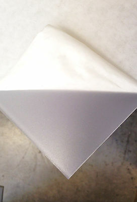 CLEAR FROSTED ACRYLIC PLEXIGLASS 18 YOU PICK THE SIZE - PLASTIC SHEET
