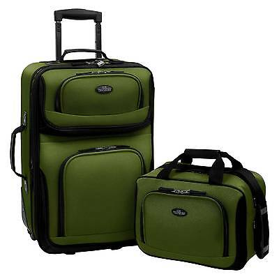 U-S- Traveler Rio 2pc Expandable Carry On Luggage Set - Green