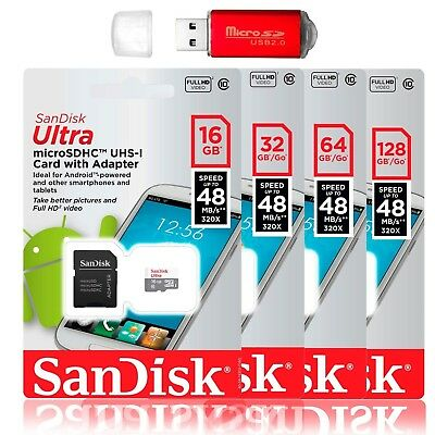 SanDisk 128GB 64GB Ultra Micro SD Class 10 TF SDXC Memory Card mobile Cellphone