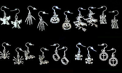 BUY 3 GET 1 FREEHALLOWEEN DANGLE EARRINGS925 STERLING SILVER HOOKYOU PICK