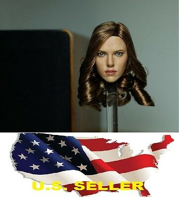 16 Scarlett Johansson Black Widow 5-0 Head Sculpt Capital America 3 US IN STOCK