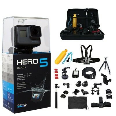 DEAL GoPro HERO5 Black -ALL You Need Accessories Kit- Hero 5 Action Camera