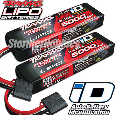 Traxxas 11-1V 5000mah 3S 25C LiPO Battery with ID Plug 2 2872X FREE-SHIPPING
