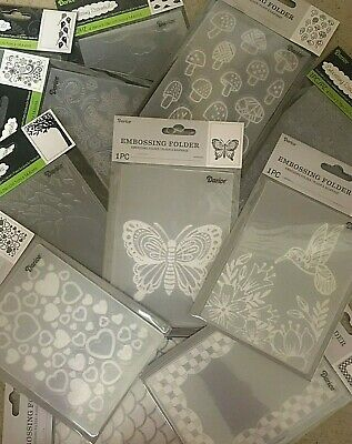 Darice Embossing Folders 4-25 x 5-75 VARIOUS DESIGNS 3-75 EACH  Set 6