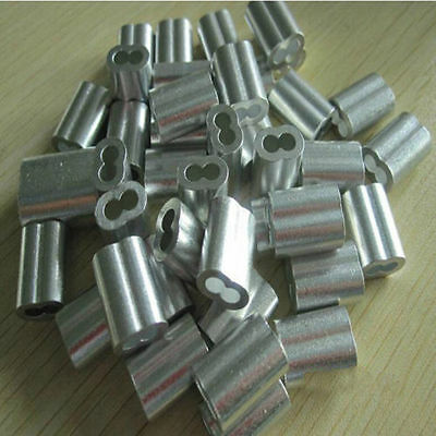 Aluminum Swage Sleeves for 14 Wire Rope Cable 50 100 pcs