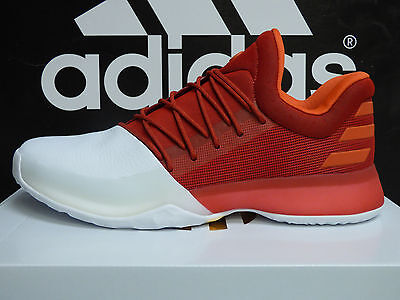 NEW AUTHENTIC ADIDAS Harden Vol-1 Mens Basketball Shoes - RedWhite  BW0547
