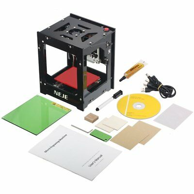 3D High Power 1W 1000mw Laser Engraver Printer Hard Wood Rubber Leather Paper HQ