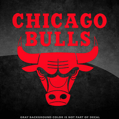 Chicago Bulls NBA Logo Vinyl Decal Sticker - 4 and Larger - 30- Color Options
