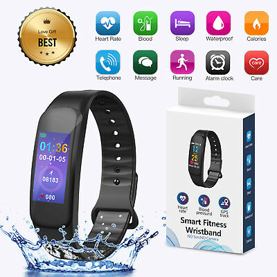 Sports Blood PressureHeart Rate Monitor Fitness Smart Watch Wrist Band Bracelet