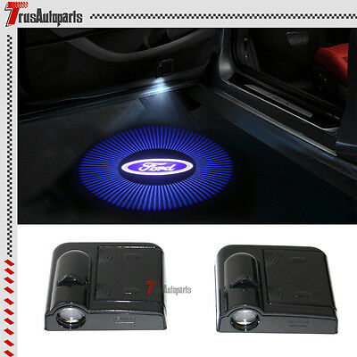 2x For Ford Logo Wireless Car Door Welcome Laser Projector Shadow LED Light