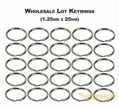 Split Key Rings 1 Keychain Key Holder Locksmith 1-25mm x 25mm Wholesale Lots