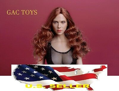 16 Scarlett Johansson Black widow Head red Hair for PHICEN GC002A ❶US IN STOCK❶