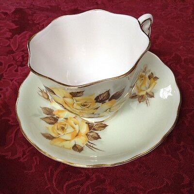 Colclough China Made in Longton England Genuine Bone China Tea Cup and Saucer