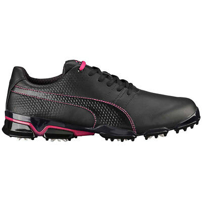 NEW Mens Puma TitanTour Ignite Golf Shoes Black  Beetroot - Choose Your Size