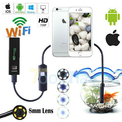 WIFI Endoscope Waterproof Borescope Inspection Camera USB For iPhone - Android