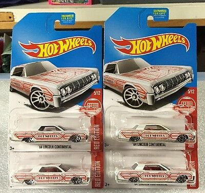 Hot Wheels Target Red Edition 64 Lincoln Continental Lot Of 4 HTF As Seen BPs